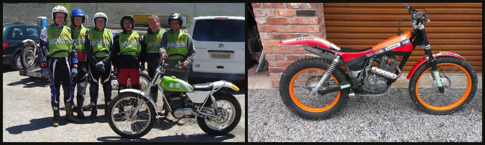 repsol honda trials bike using rock shocks