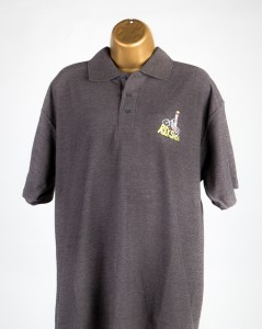 branded polo shirt - grey