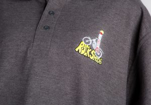 logo on polo shirt